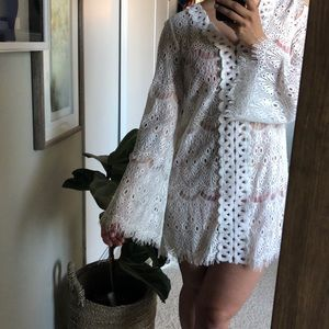 White lace dress/cover up